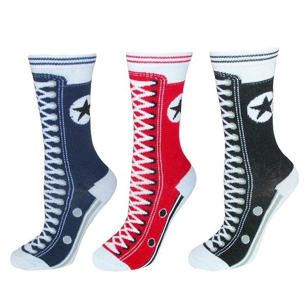Nollia Women's Novelty Sneaker Print Socks (3 Pair Pack)