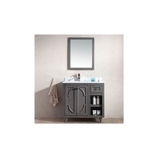 "Miseno MV-SPA36 Spazio 36"" Free Standing Vanity with Vanity Top and Undermount Sink"