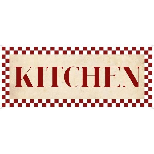 PTM Images 579793 Checkerboard Kitchen Sign - N/A