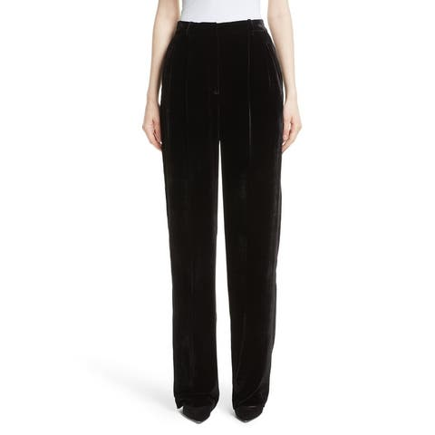Theory Women's Pants Black Size 2X35 High Waist Luxe Velvet Stretch