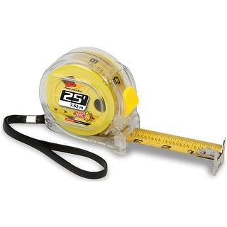 Performance Tool W5041 Clear Tape Measure, 25' L