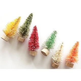 Merry & Bright Bottle Brush Trees-2""
