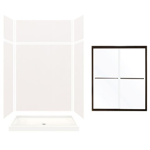 """Transolid Expressions 60-in X 32-in X 96-in Glue to Wall Shower Kit - 32"""" x 60"""" x 96"""""""