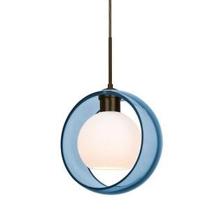 "Besa Lighting 1JT-MANABL-LED Mana Single Light 9"" Wide LED Mini Pendant (2 options available)"