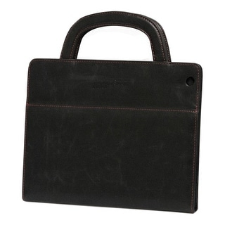 Mobile Edge MEIDF1 Mobile Edge Deluxe Carrying Case (Portfolio) for iPad - Black - Faux Leather - Handle