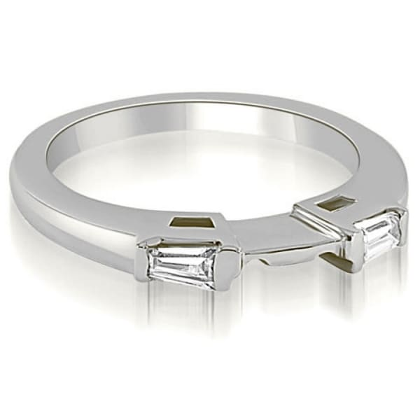 0.15 CT.TW Baguette Cut Diamond Wedding Band in 14KT Gold - White H-I