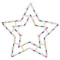 "18"" Lighted Star Christmas Window Silhouette Decoration (Pack of 4)"