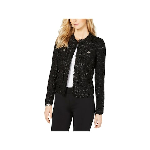 MICHAEL Michael Kors Womens Open-Front Blazer Fringe Embellished - 12