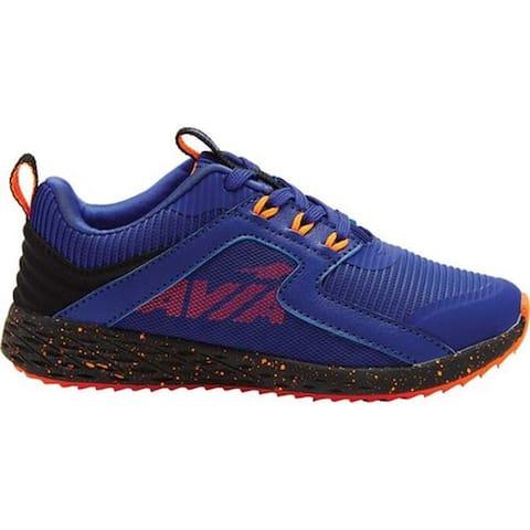 Avia Boys' Avi-Ryder Sneaker Clematis Blue/Shocking Orange/Black