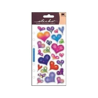 EK Sticko Sticker Sparkle Hearts