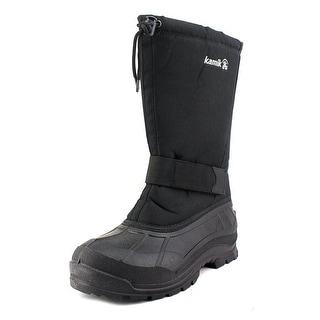 Kamik Greenwood Men Round Toe Synthetic Black Winter Boot