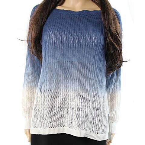 Lauren by Ralph Lauren Women's Ombre Ribbed Knit Sweater, Blue, S