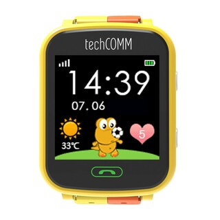 TechComm G200S Kids Smart Watch for T-Mobile ONLY with Pedometer and GPS (Option: Yellow)