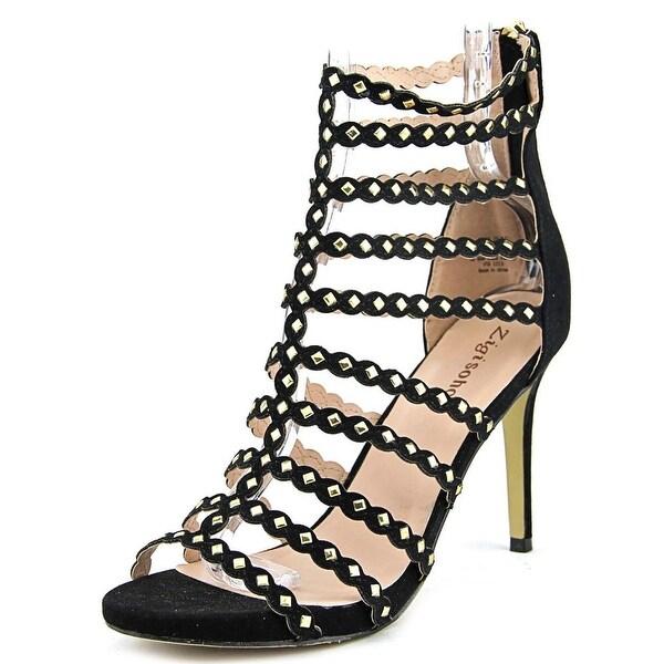 Zigi Soho Adita Women Open Toe Canvas Black Sandals