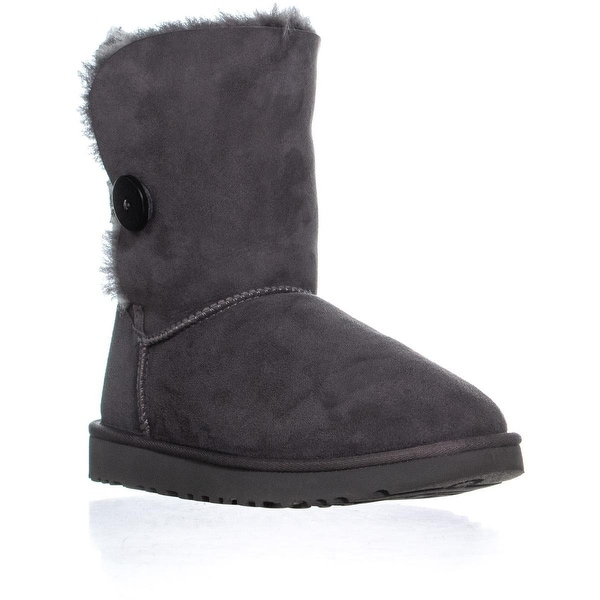 a2809964568 Shop UGG Bailey Button II Winter Boots, Gray - 9 us / 40 eu - Free ...
