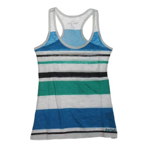 Ecko Unltd. Womens Multi Stripe Boy Racerback Tank Top
