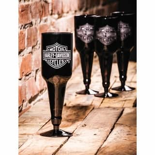Harley Davidson Beer Bottle Glass Set of 4|https://ak1.ostkcdn.com/images/products/is/images/direct/a6d9216dc3781dd31f9916354aa78cff17c60274/Harley-Davidson-Beer-Bottle-Glass-Set-Of-4.jpg?impolicy=medium