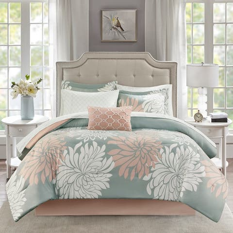 Madison Park Essentials Caldwell Complete Comforter and Cotton Sheet Set