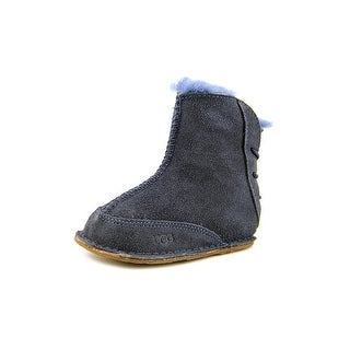 Ugg Australia I Boo Infant Round Toe Suede Blue Winter Boot