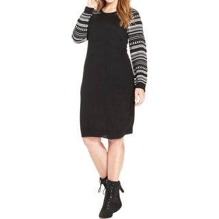Love Squared Womens Plus Sweaterdress Knit Fitted - 2x