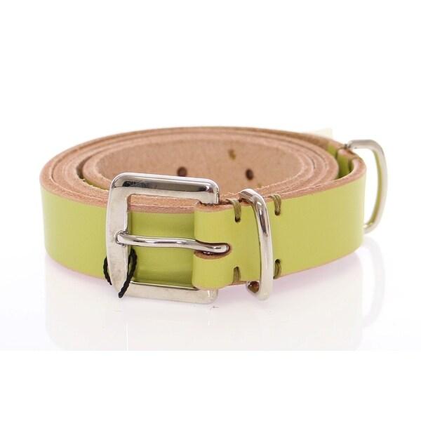 Dolce & Gabbana Dolce & Gabbana Green Leather Logo Belt - 90-cm-36-inches