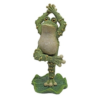 Design Toscano Boogie Down, Dancing Frog Statues: Hands Up
