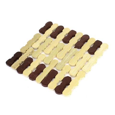 """6.8"""" x 6.8"""" Kitchen Pans Pots Holder Heat Insulation Pad Beige Burgundy - 6.8"""" x 6.8"""""""