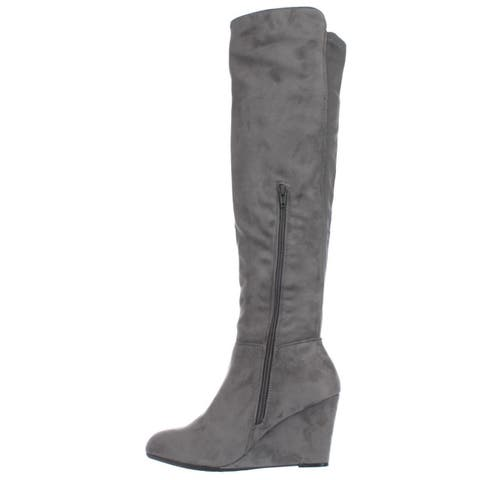 e12af8497cc Chinese Laundry Womens Unbelievable Almond Toe Over Knee Fashion Boots