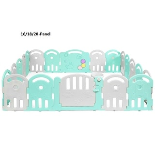 Link to Costway 16/18/20-Panel Baby Playpen Kids Activity Center Playard Similar Items in Activity Gear