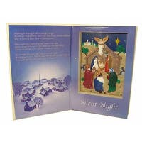 "Mr. Christmas Animated and Musical ""Silent Night"" Nativity Song Book #22946"