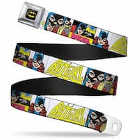 Batman Full Color Black Yellow Batgirl Panels Yellow Pink Webbing Seatbelt Seatbelt Belt