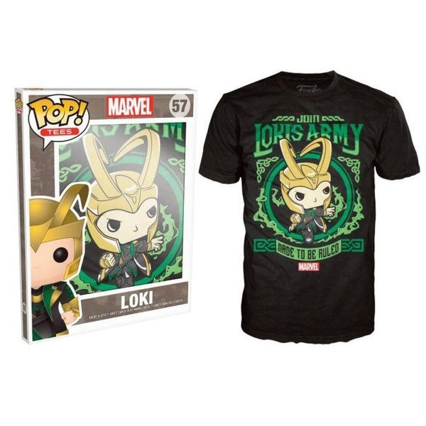 Funko Pop Black Marvel Loki's Army Poster T-Shirt