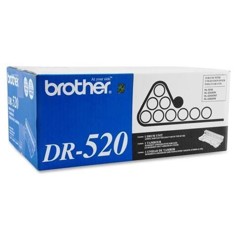 Brother international corporat dr520 drum unit - black - 25,000 pages-a4/letter size, single sided pages