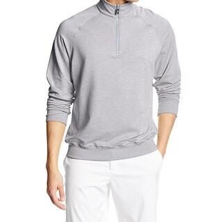 F&G Tech NEW Heathered Gray Mens Size XL 1/2 Zip Raglan Sweater