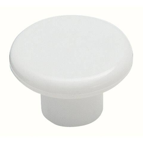 Amerock BP802PW Allison Value Hardware Round Cabinet Knob, White, Plastic