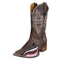Tin Haul Western Boots Mens Gnarly Shark Brown