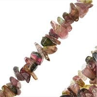 Tourmaline Gemstone Beads, Chips 5-7mm, 36 Strand, Multi Color