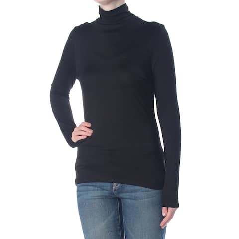 FRENCH CONNECTION Womens Black Mock Neck Long Sleeve Top Size: S