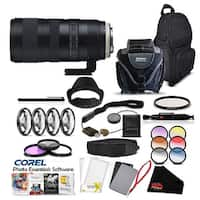 Tamron SP 70-200mm f/2.8 Di VC USD G2 Lens for Canon EF Pro Accessory Kit - Black