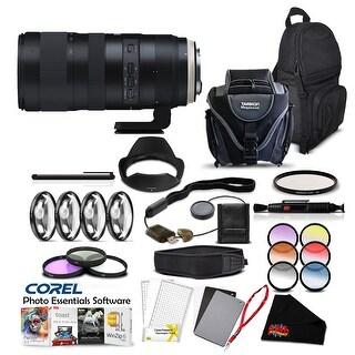 Tamron SP 70-200mm f/2.8 Di VC USD G2 Lens for Canon EF Pro Accessory Kit - Black