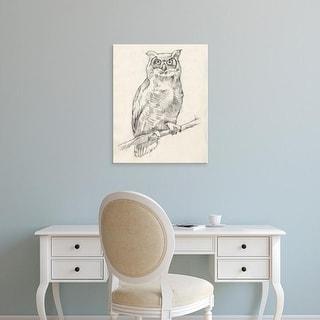 Easy Art Prints Jennifer Goldberger's 'Owl Portrait I' Premium Canvas Art