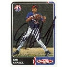 Endy Chavez Montreal Expos 2003 Topps Total Autographed Card  This item comes with a certificate of