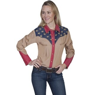 Scully Western Shirt Womens Long Sleeve Patriotic Snap PL-861