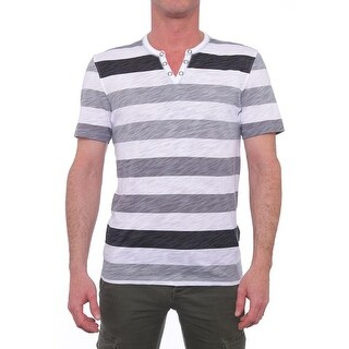 INC International Concepts Stripe Short Sleeve V-Neck Basic Tee Men