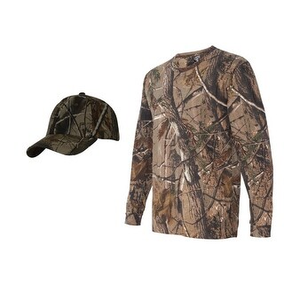 Realtree Camouflage Long Sleeve Shirt + Upscale Camo Hat