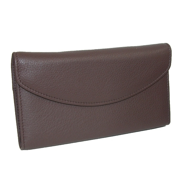 DOPP Women's Leather Roma Checkbook Clutch Wallet - One size