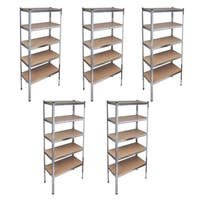 vidaXL Storage Rack Garage Shelf 5 pcs