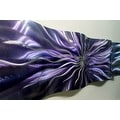 Statements2000 Purple/Silver Abstract Metal Wall Art Accent Sculpture Decor by Jon Allen - Royal Blush Wave - Thumbnail 0