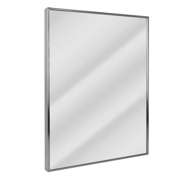 Headwest Spectrum Brush Nickel Wall Mirror Brushed Nickel 24 X 30 Brushed Nickel 24 X 30 Overstock 18506192