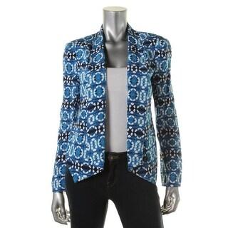 Rebecca Minkoff Womens Silk Printed One-Button Blazer - 6